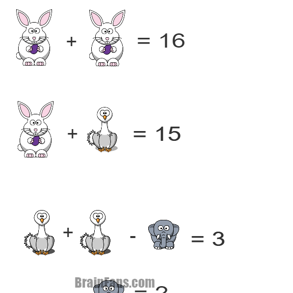 Brain teaser - Number And Math Puzzle - Challenge 1 -