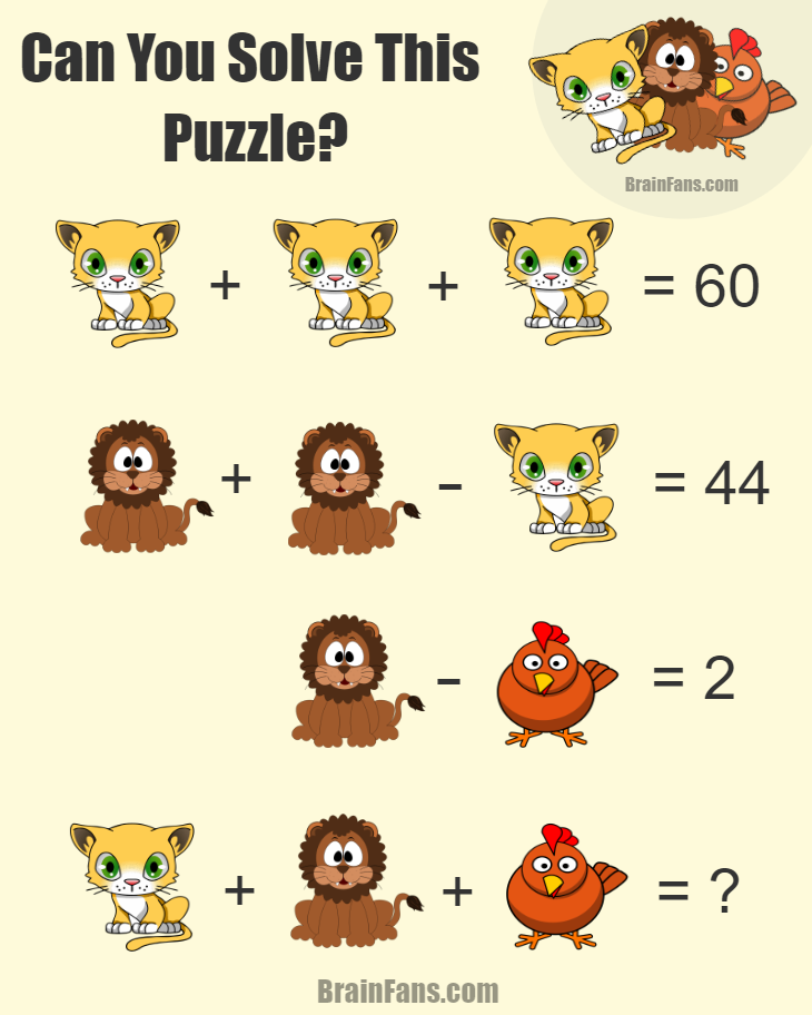 Great Maths Puzzles With Answers Brainfans