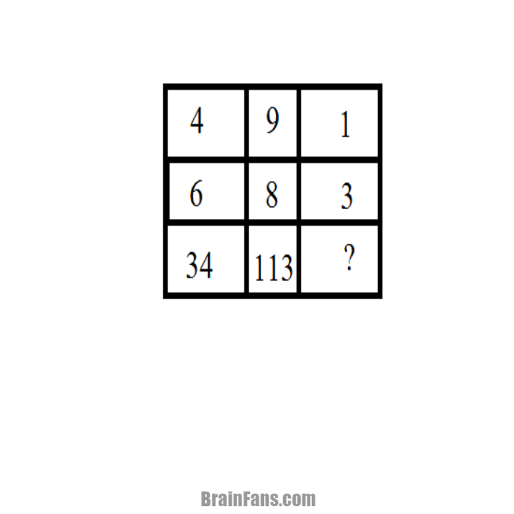 Brain teaser - Number And Math Puzzle - Find the value of x with reason -