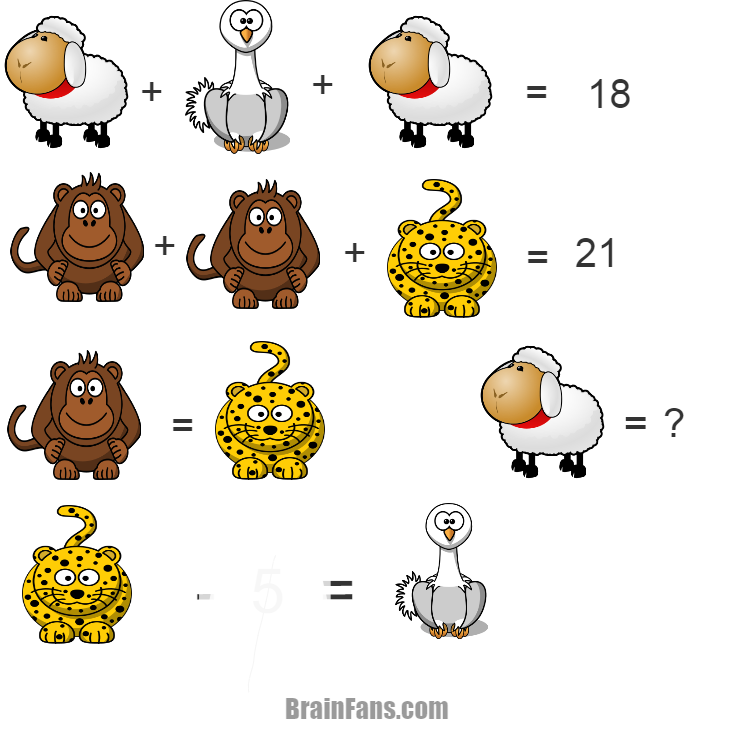 Brain teaser - Kids Riddles Logic Puzzle - ANIMAL - YOU CAN DO IT
