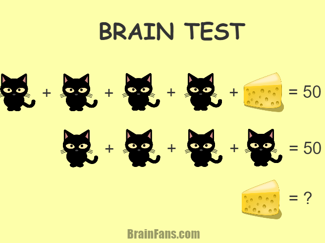 math worksheet : math brain test  kids riddles logic puzzle  brainfans : Math Brain Teaser