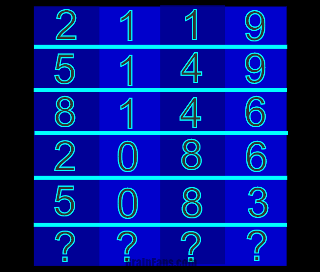 Brain teaser - Kids Riddles Logic Puzzle - The Four (4) Digits -