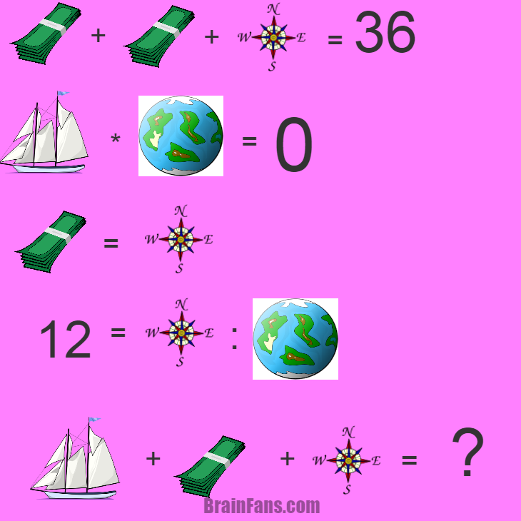 Brain teaser - Kids Riddles Logic Puzzle - travel around the world - alittle bit hard. but you can did it !