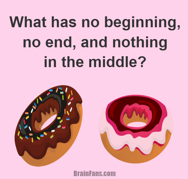 Brain teaser - Logic Riddle - No beginning no end nothing in the middle - What has no begginning, no end, and nothing in the middle?