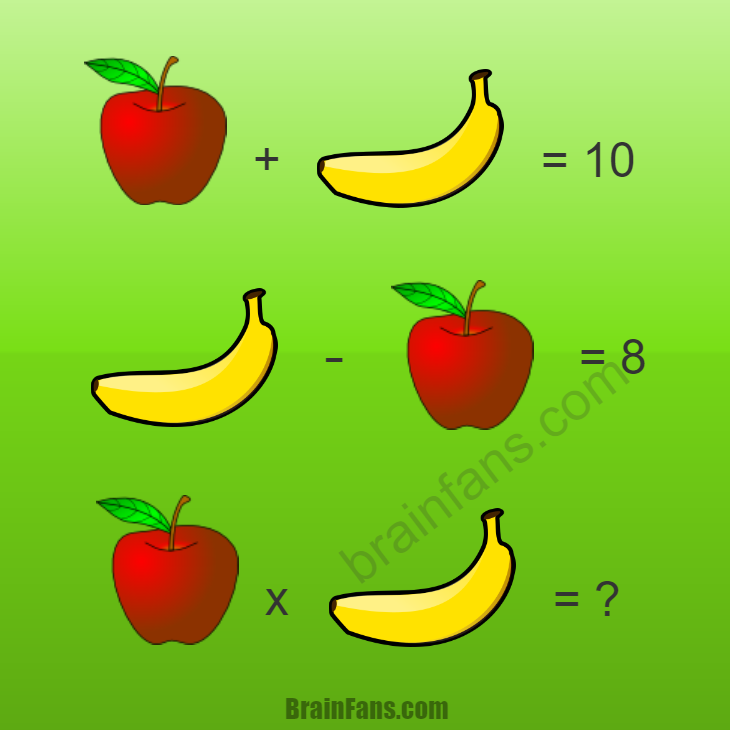 Brain teaser - Number And Math Puzzle - Apple and banana - Solve this math puzzle with apples and bananas. You can also write the equations on a paper if you prefer. How much time do you need to solve this puzzle? Please like below:)