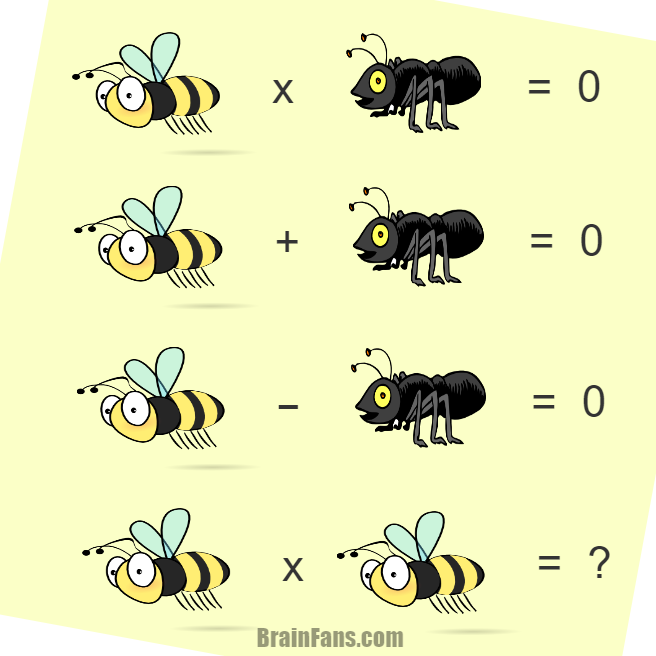 Brain teaser - Number And Math Puzzle - Bee and ant  - Bee and ant easy puzzle to solve. Just take a look and see a solution to thiz puzzle.