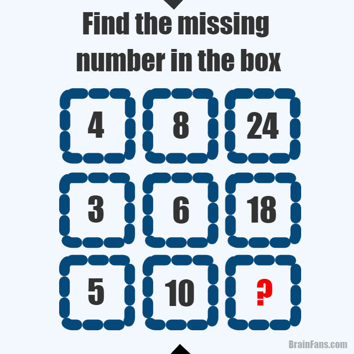 math worksheet : find the missing number in the box  number and math puzzle  : Brain Teasers Math