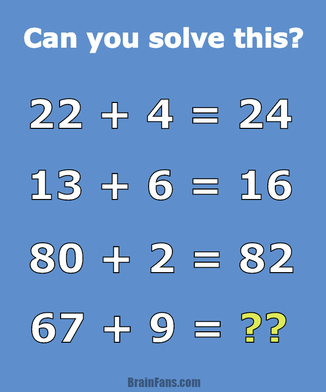 math problem for geniuses number and math puzzle brainfans brain teaser number and math puzzle math problem for geniuses can you solve