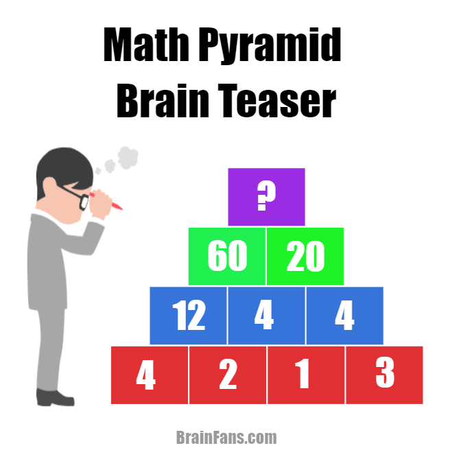 Math Pyramid Brain Teaser