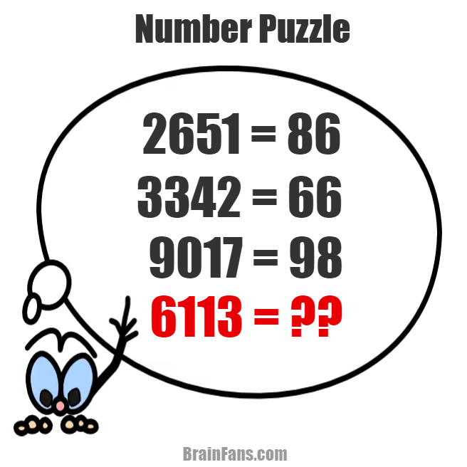 math worksheet : number puzzle  number and math puzzle  brainfans : Math Brain Teaser