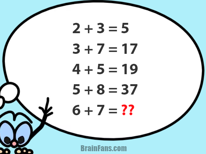 Brain teaser - Number And Math Puzzle - Number puzzle with answer - Try this hard number puzzle. See the answer below. Ask yourself: how can I make i.e. 17 out of 3 and 7 using math operations?