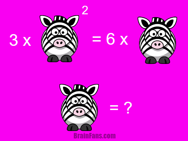 Brain teaser - Number And Math Puzzle - riddle with answer - This is a quadratic equation puzzle with an animal. Can you solve it? There might be more correct answers! Please share in comments if this was easy or hard.