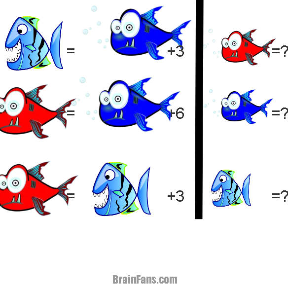 Brain teaser - Picture Logic Puzzle - Fish -