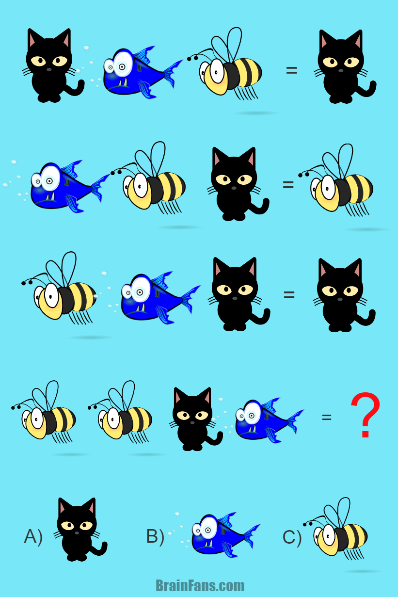 Brain teaser - Picture Logic Puzzle - Logic puzzle for kids - Can you solve this logic puzzle for kids with answer? There are many animals on the picture. Nevertheless, only one of them can be considered a correct answer. Can you find that one?