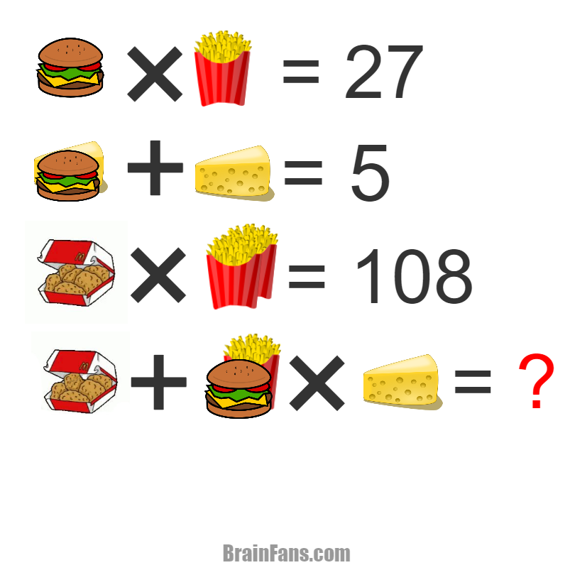 Brain teaser - Picture Logic Puzzle - MC Snack -