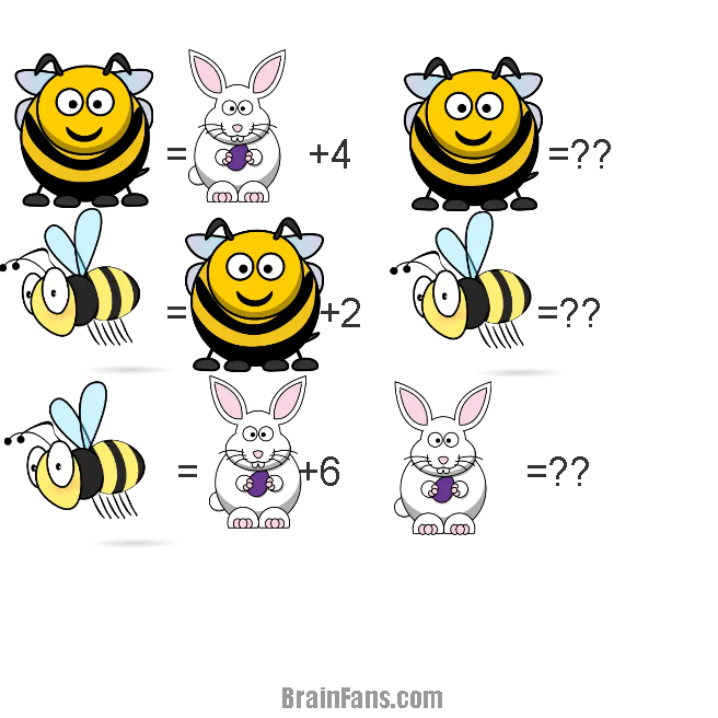 Brain teaser - Picture Logic Puzzle - Wasp,bee and rabbit. - Wasp vs bee vs rabbit
